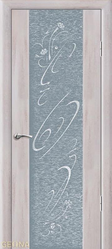 Дверное полотно ЛЮКС 1 С РИСУНКОМ И СТРАЗАМИ, brand = Геона, price=15800
